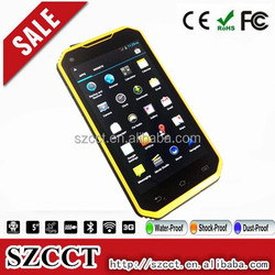 waterproof quad core walkie talkie 5km android 4.4 NFC wireless charger 5.0 inches rugged phone