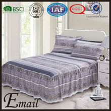 Hot sale lace bedding bedspreads/ fitted bed skirt/skirts for hotel