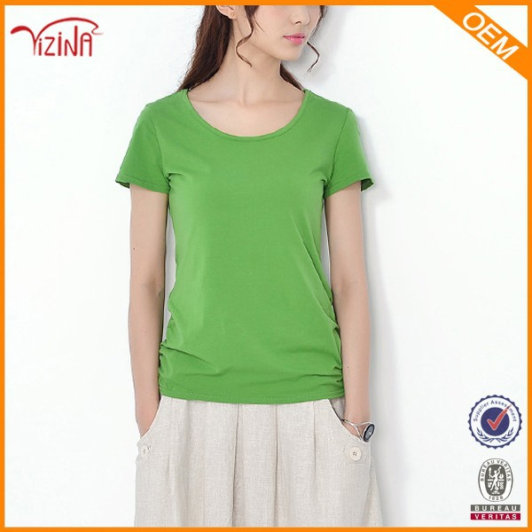 Fashion summer china cheap promotional t shirts plain for Cheap promo t shirts