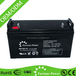 sealed lead acid 12v 120ah agm battery with made in china