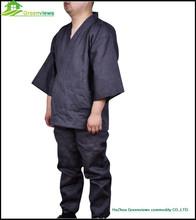 Men Japanese Style Satin cotton fibre Kimono Robes grey night wear nighty pyjamas japanese design for SPA homeAvailable GVXF0003