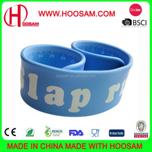 Ruler Slap Band, Made of Silicone or Reflective PVC, OEM Order is Welcomed