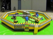 Funny inflatable wipe out challenge games for sale