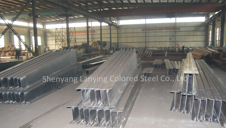 Residential structure steel fabrication building