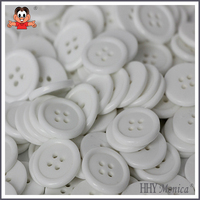 cheap white plastic 4-hole Sewing buttons for shits