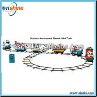 Backyard mini train for kis playging