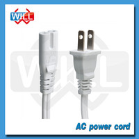 UL certified 3 pin 10a American dc power cord with plug