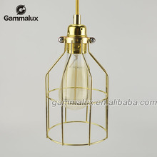 Wire Cage Vintage Pendant Lights Industrial Style Beautiful Suspension Lamp