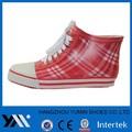 rayas de color rojo wain botas con cordón