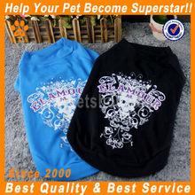 JML China new design popular black/blue dog plain t-shirts