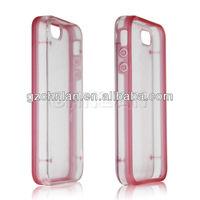 New arrival transparent plastic hard case for iphone 5C