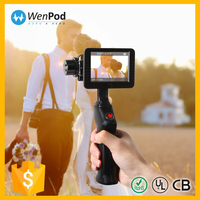 Wenpod GP2 china hot selling leading tech mini brushless camera video stabilizer with hdmi