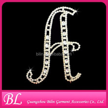 Diamante Crystal Rhinestone Letters Cake Pick Topper Wedding Initials - A to Z