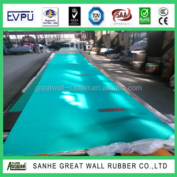 2mmx1.2mx10m anti-static rubber sheet roll with good elastomer rubber sheet made in Sanhe Great Wall
