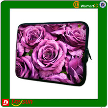 Red beautiful flowers neoprene rose case laptop sleeves