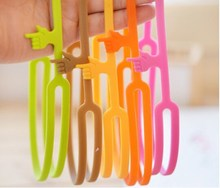 Silicone finger bookmark / silicone pointing finger bookmark / flexible bookmark