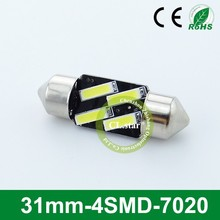 Professional supplier led car light 31mm 4smd 12v led lights 7020