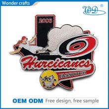 WD-B76 Wonder crafts best quality odd shape iron material imitation silver plating custom soft enamel metal badges