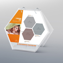 2017 custom lots of shapes of acrylic calendar with two metal circles