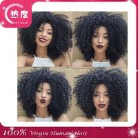 Wholesale unprocessed naturally virgin afro kinky brazilian human hair