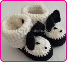 fashion flowes girls crochet knitting baby shoes