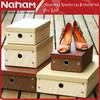 NAHAM Weave Paper Storage Box Shoe Storage Organizer