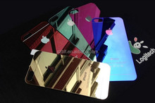 Hardness 9H 2.5D Color Mirror Tempered glass screen protector,0.33mm tempered glass for Iphone 5S/5C/5