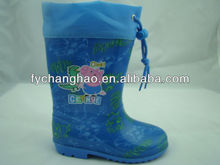 Boys bule collar PVC safety gumboots