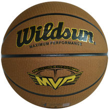 official size and weight genuine leather basketball ball