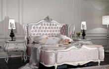 luxury bed king size head and footboards