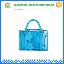 China wholesale new product colorful pvc fashion girls handbags