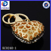 New Design Hollowed out spots and Heart Different shapes Metal keychains
