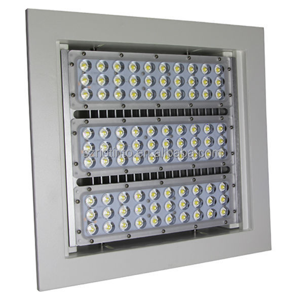 Ip65 Led Outdoor Recessed Canopy Light With 50w 200w In Ul Dlc Tuv Ce Approve