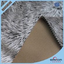 Haining artificial fake wool fabric suede bonded faux lamb fur fabrics