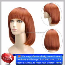 Synthetic fiber lacefront wigs short style honey blonde lace front wigs