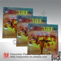 Newest herbal chemical package bags, 1g Schniff herbal incense bag