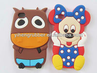 """Christmas gift! Hot sale 3D mickey mouse animal silicone phone case for Iphone 5"""" accessories"""