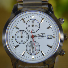 genuine leather quartz movt titanium brand watch