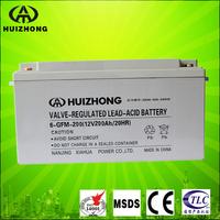 telecom battery 12V 200AH solar ups use