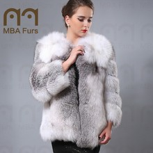 Genuine Wholehide Fox Fur jacket, Fur coat, Fashion Outerwear