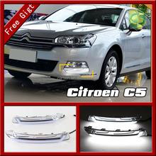 Car Led Daytime Running Light DRL Bumper Front Fog Light Accessories fit for Citroen C5