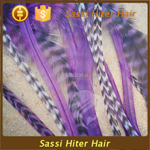 Cheap Synthetic Grizzly Rooster hot sale remy feather extensions for hair