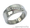 channel setting CZ stainless steel steel time jewelry ring