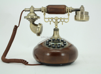 Retro Desktop Corded Caller Id Telephone With Popular Design Old Fashion Phone