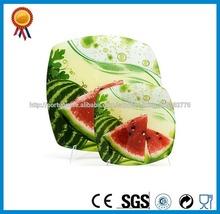 prato de frutas de vidro decorativo