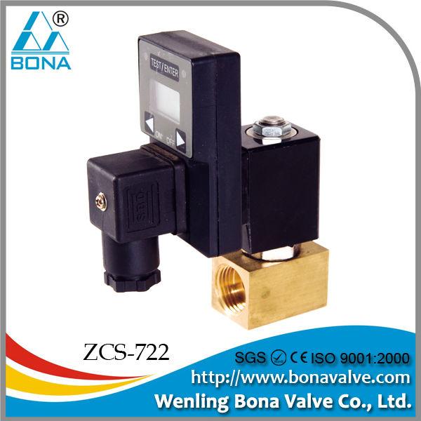 Temporizador Auto drenaje de la válvula solenoide del compresor de aire normalmente cerrado