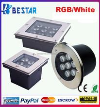 Blue underground LED Light 3W , Green LED underground Lights3Watt , Red underground LED Lamp 3W
