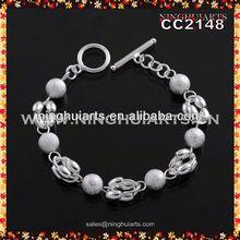 braided bead bracelet imitation white jade