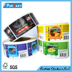 High quality plant product packaging labels