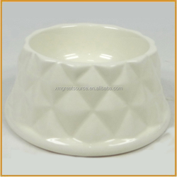 small white ceramic pet bowl for dogs and cats wholesale